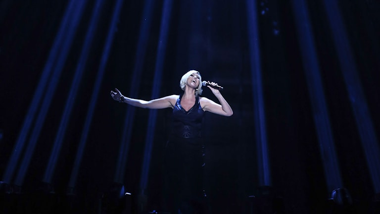 Sanna Nielsen är programledare i årets upplaga av Melodifestivalen. Foto: Fredrik Persson/TT