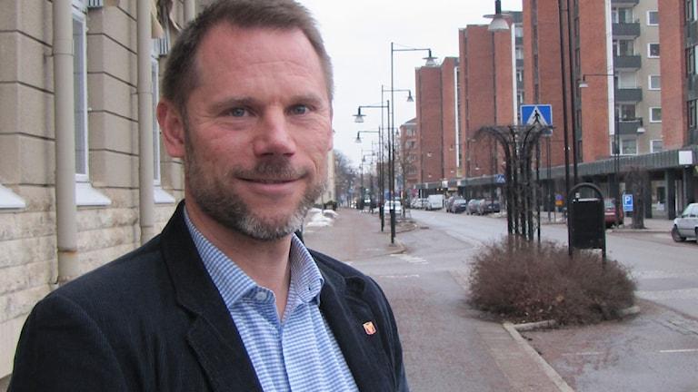 Andreas Svahn, S, kommunalråd i Hallsberg. Foto: Gabriel Stenström/Sveriges Radio Örebro