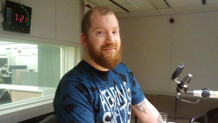 Kenny Nordh, föreståndare på föreningen Brädcentralen i Örebro.