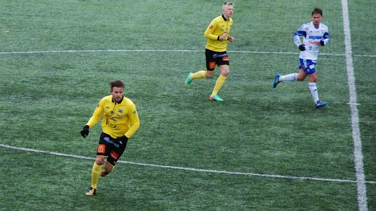 BK Forwards målskytt Erik Björndahl. Foto: Hjalmar Lindberg/Sveriges Radio.