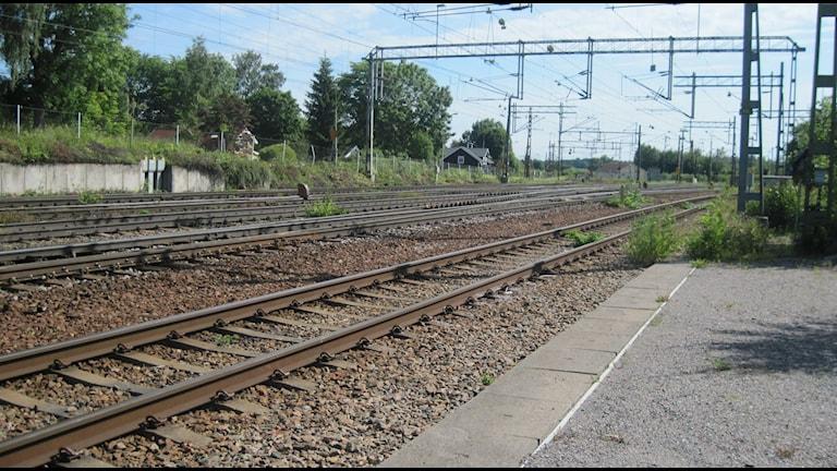 Inga tåg passerar Hallsberg just nu. Arkivbild: Anna Björndahl/Sveriges Radio.