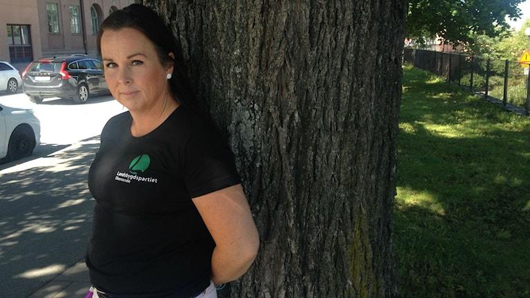 Erika Sörengård är initiativtagare till Landsbygdspartiet oberoende i Örebro län. Foto : Isabelle Strengbom/ Sveriges Radio
