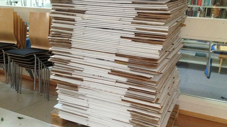 En hel del kartonger har redan packats upp. Foto: Malin Holmberg/Sveriges Radio Örebro.