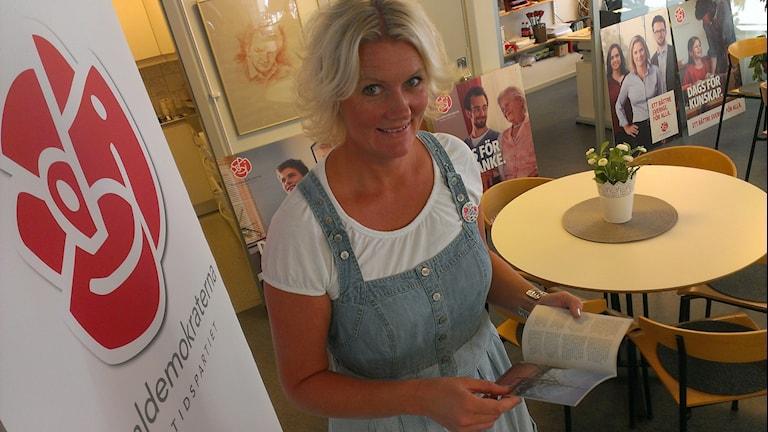 Lena Baastad socialdemokrat och kommunalråd i Örebro kommun. Foto: Andreas Morén P4 Örebro.