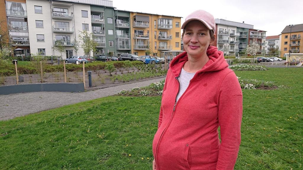 Sofia Okfors är gravid med sitt andra barn.