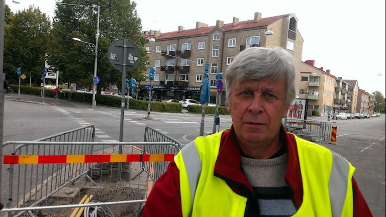Gatuingengör Tomas Larsson på Örebro kommun. Foto: Andreas Morén P4 Örebro.