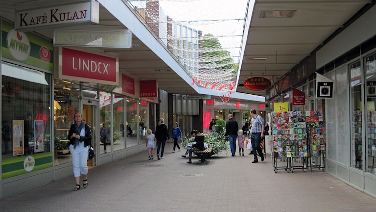 Karlskoga centrum. Foto: Jens Tisbo/Sveriges Radio.
