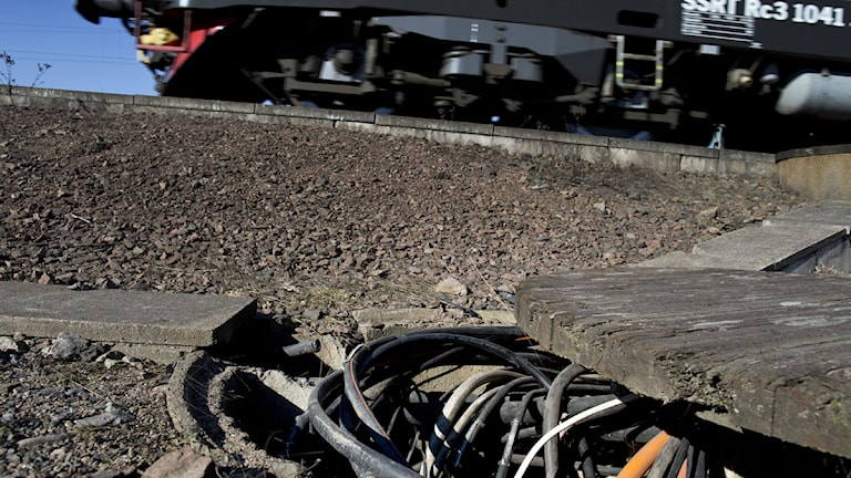 Copper theft has caused many traindelays in Sweden. Photo: Björn Larsson Rosvall/TT