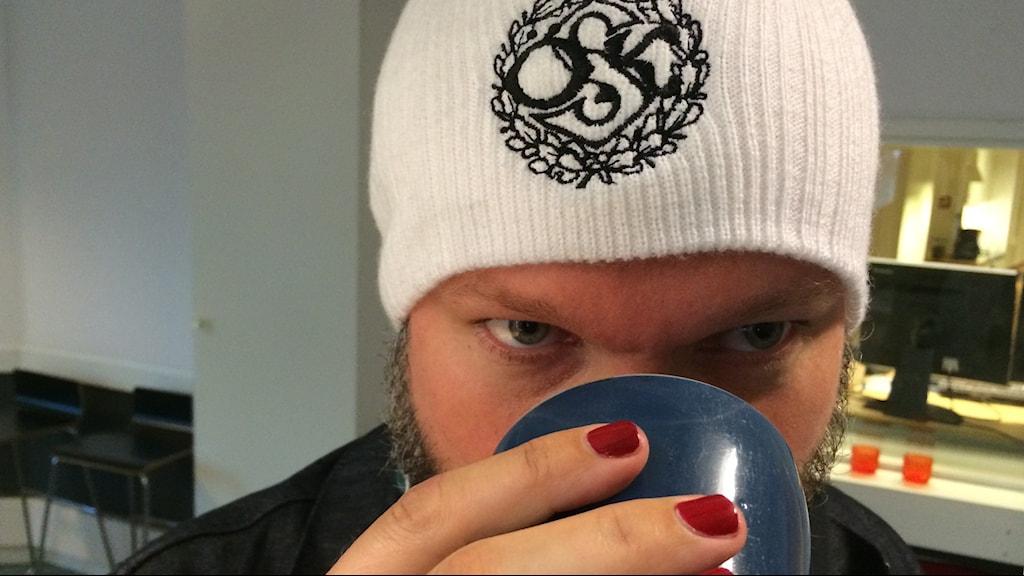 Kal Ström gillar kaffe och ÖSK foto : Arne Holmberg SR Örebro
