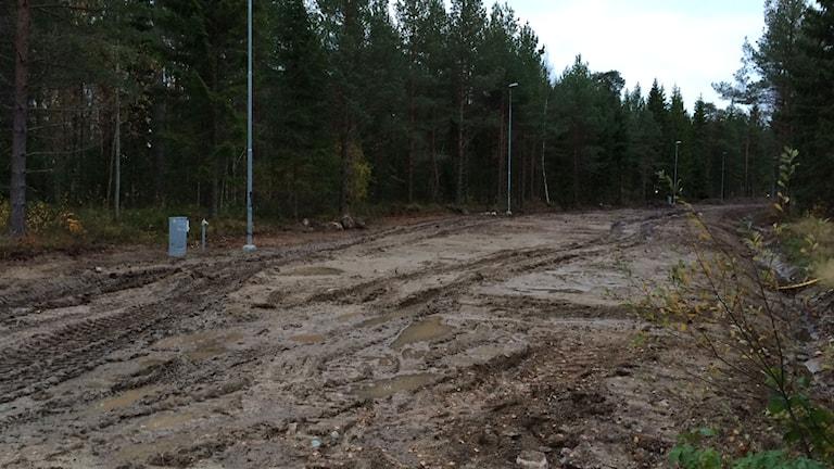 Ånnaboda när skidspåren byggdes i oktober i fjol. Arkivbild: Andreas Morén/Sveriges Radio