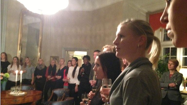 KIF Örebro hyllades på Slottet efter stora silvret. Arkivfoto: Sofia Broomé / Sveriges Radio