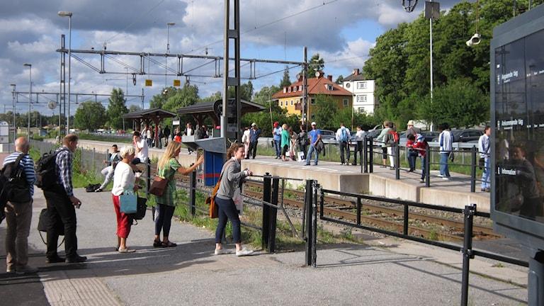 Lindesberg har fått bättre järnvägsförbindelser på senare år. Foto: Marie Hansson/Sverige Radio.