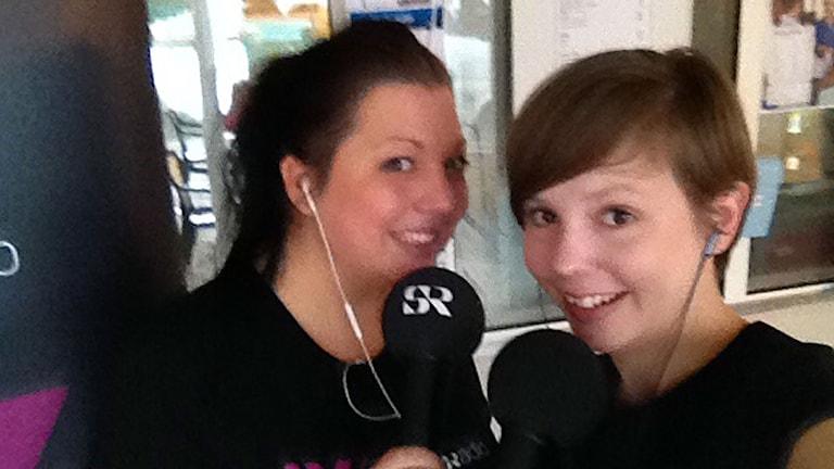Madde och Isabelle. Foto: Sveriges Radio.