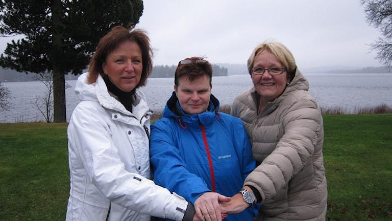 Tre kvinnor i ledning. Solveig Oscarsson, Nora, Anna-Lena Järnberg, Hällefors och Irja Gustavsson, Lindesberg. Foto: Marie Hansson/SR.