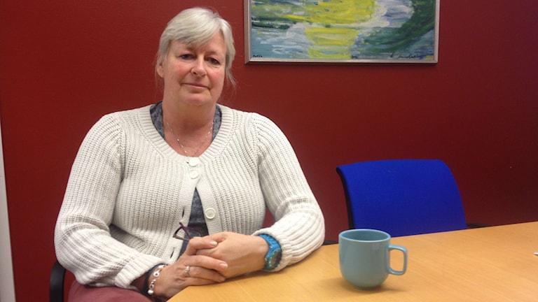 Ina Axelryd är rektor på hagaskolan. Foto: Isabelle Strengbom/Sveriges Radio