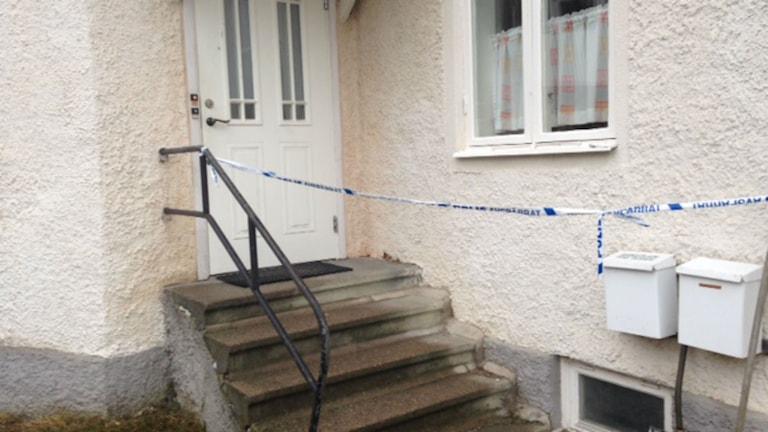 Huset där en man blev mördad i almby