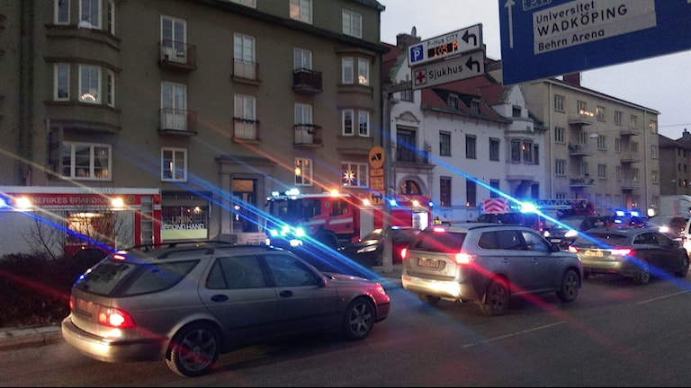 Brand i frisörsalong i Örebro. Foto: Andreas Morén Sveriges Radio Örebro.