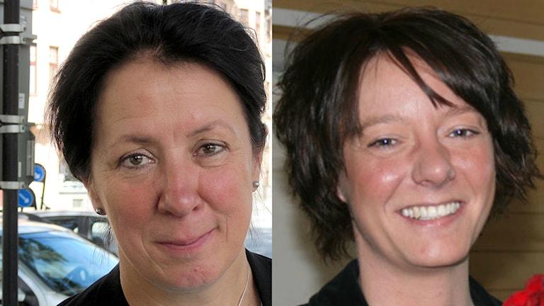 Lotta Olsson (M) och Matilda Ernkrans (S) kommenterar statsministerns beslut om extraval nästa år. Foto: Sveriges Radio.