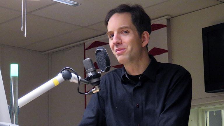 Michael Horvath är poet och spoken wordartist. Foto: Eva Hallgren/Sveriges Radio.