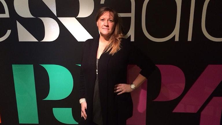 Maria Andersson blev diagnostiserad med ADHD för tolv år sedan. Foto: Madde Klippel/Sveriges Radio.