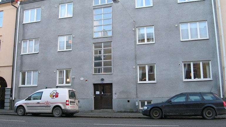Stödboendet Hjorten i ett av hyreshusen på Hjortstorpsvägen i Örebro.