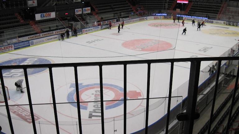 De lägst placerade nya sittplatserna kommer få den här utsikten. Foto: Anna Björndahl/Sveriges Radio.