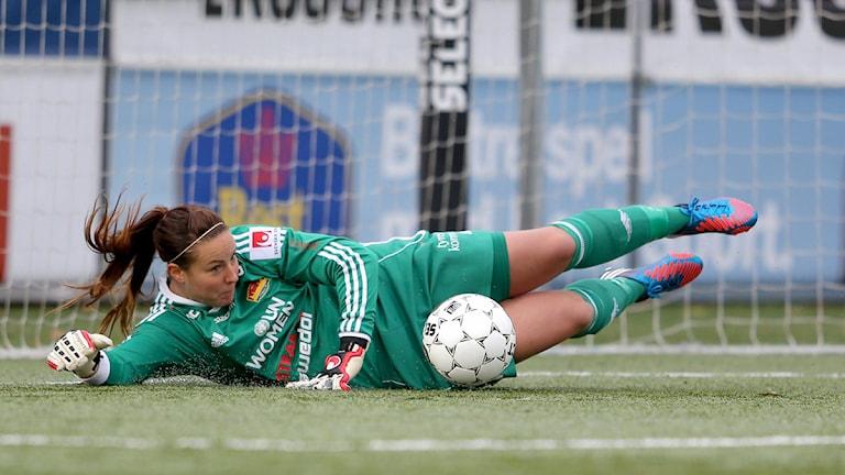 Carola Söberg i Tyresömålet. Foto: Andreas Hillergren / TT