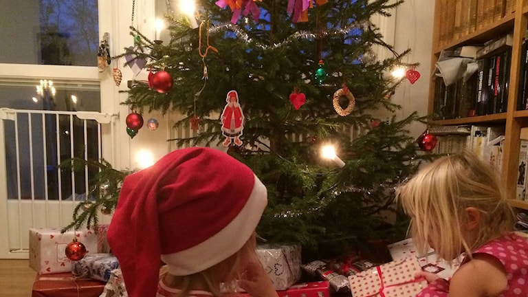 Julgran på Julafton.