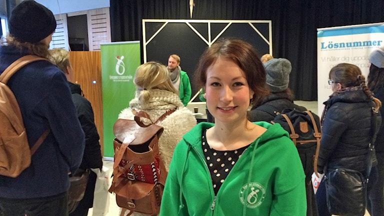 Isabella Samuelsson, studiesocialt ansvarig Örebro Universitet. Foto:Andreas Morén SR Örebro.