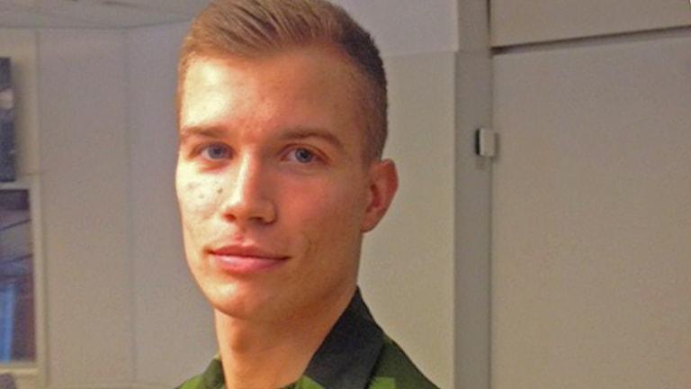 Calr Modig är en av de svenska soldater som åker till Mali. FotoJonas Edlund/SR