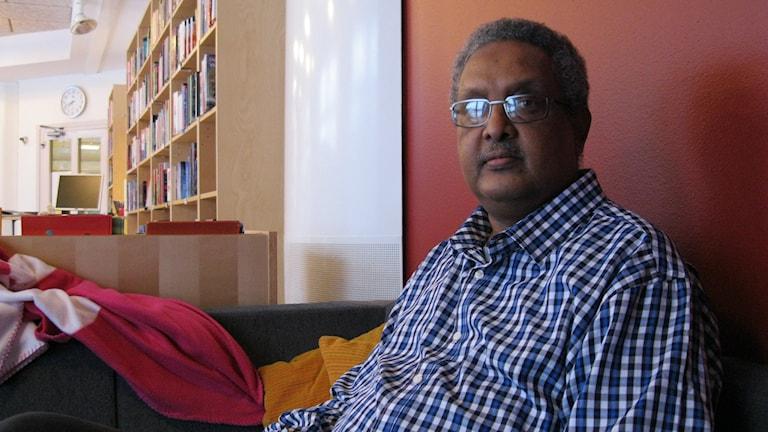 Mahdi Warsama, ordförande i den somaliska föreningen Afrikas Horn i Örebro.