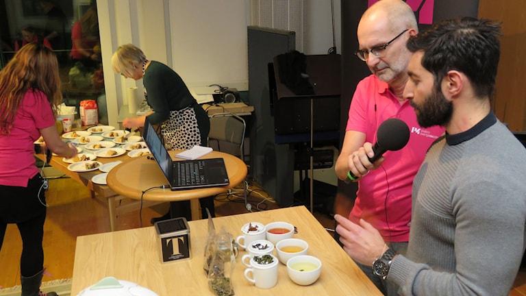 Markus Kurt berättade lyriskt om te och tebryggning.