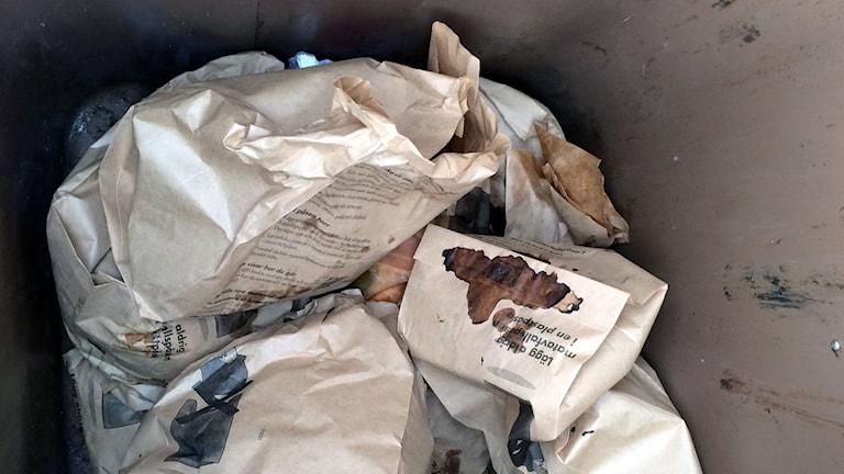 Kompostpåsar, kompost, avfall