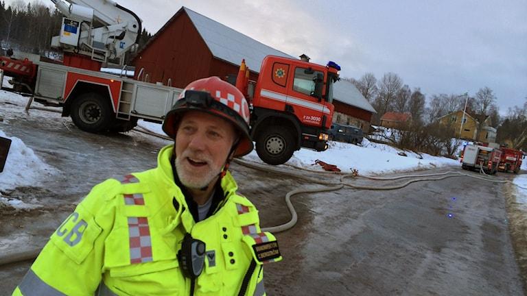Christer Bergström vid Nerikes Brandkår är insatsledare.