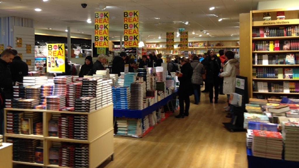 Bokrean lockar fortfarande många bokmalar. Foto: Carina Galanou Ipsonius Sveriges Radio.