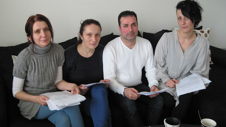 Azra Hamedovic, Sabina Hotic, Amir Nasser Yonan och Aida Ahmetagic. Foto: Anna Björndahl/Sveriges Radio.