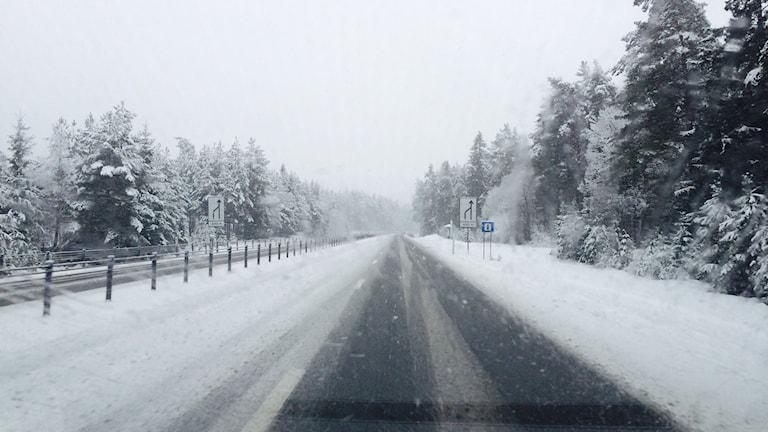 Vinterväg, riksväg 50, rv 50,