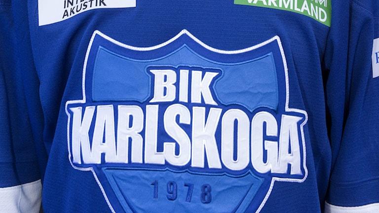 BIK Karlskogas matchtröja. Foto TT