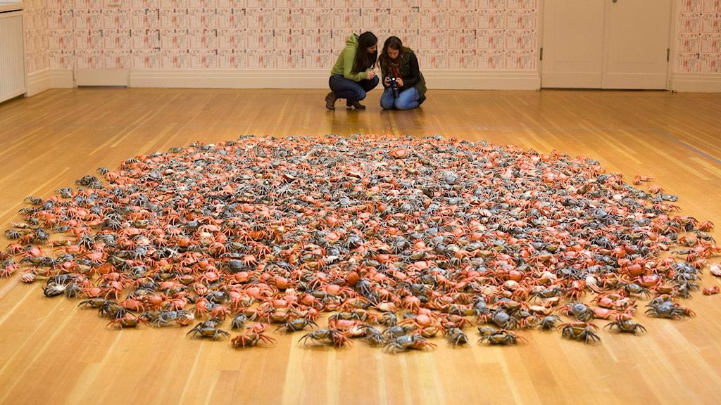 """""""River Crabs"""" av den kinesiska konstnären Ai Weiwei."""