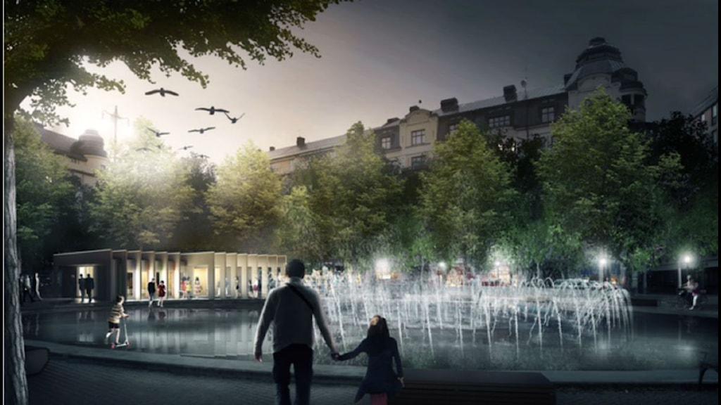 Såhär kan paviljongen komma att se ut. Bild: White arkitekter genom Olov Gynt.