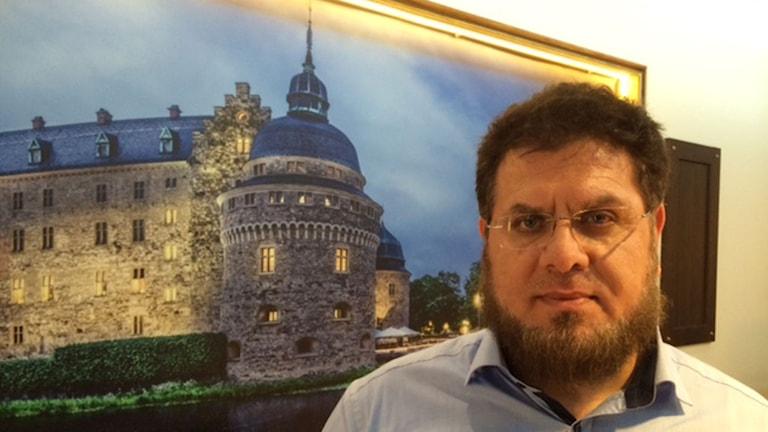 Hussein Aldaoudi, skolchef på den muslimska friskolan Al Salam i Örebro.