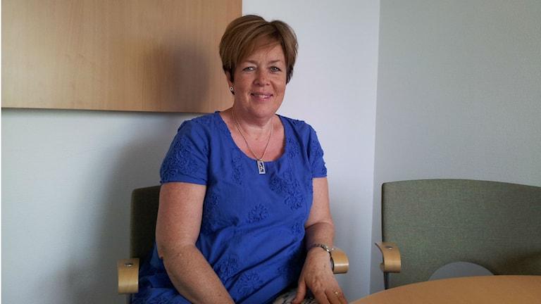 Maria Åkesson, personaldirektör på Region Örebro län. Foto: Julia Myllylä/Sveriges Radio.