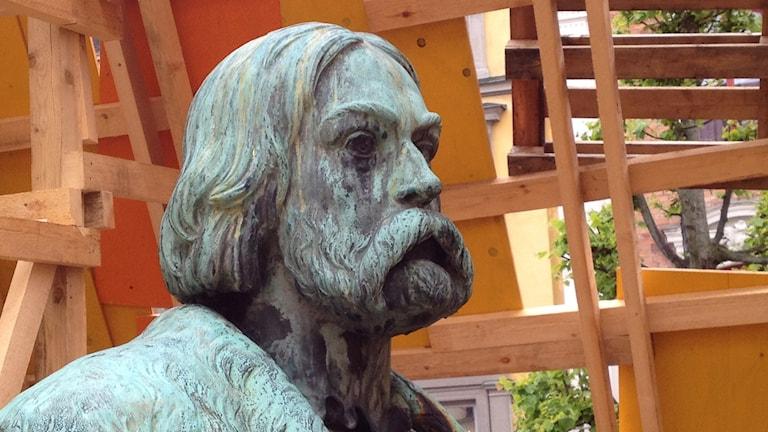 Statyn Engelbrekt på Stortorget i Örebro
