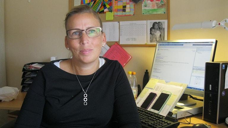 Madelen Maxe, förste socialsekreterare inom individ och familjeomsorgen i Laxå kommun.