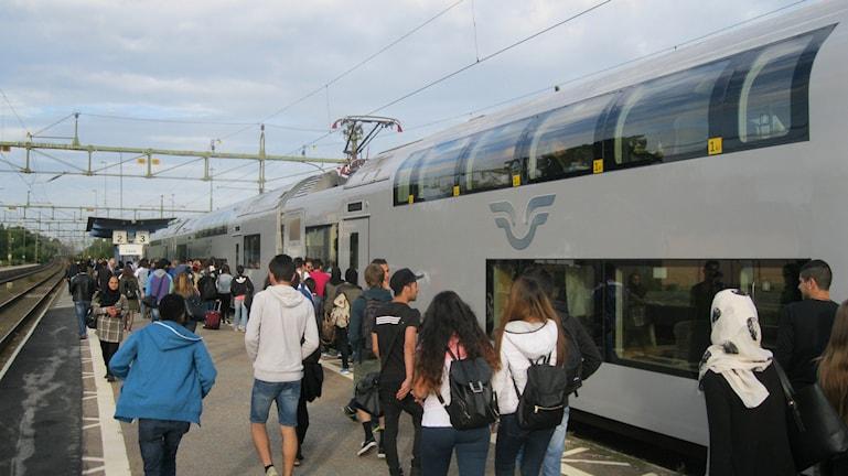 Åtta-tåget på Laxå station.