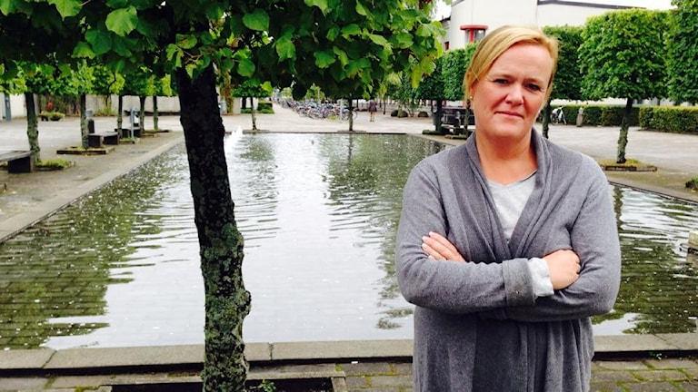 Charlotta Nordenberg är ordförande i KIF Örebro. Foto: Hanna Roth/Sveriges Radio.