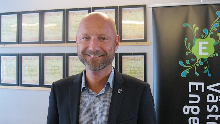 Mats Olsson, nöjd rektor på Västra Engelbrektsskolan 7-9.