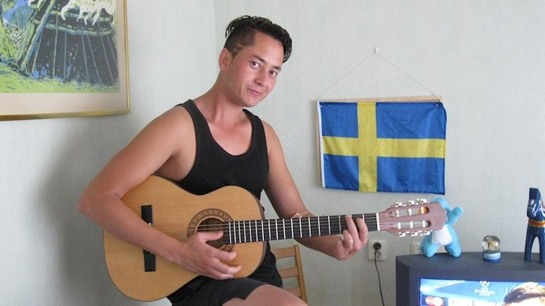 Bashir Rasoli, ensamkommnade flyktingbarn i Finnerödja.