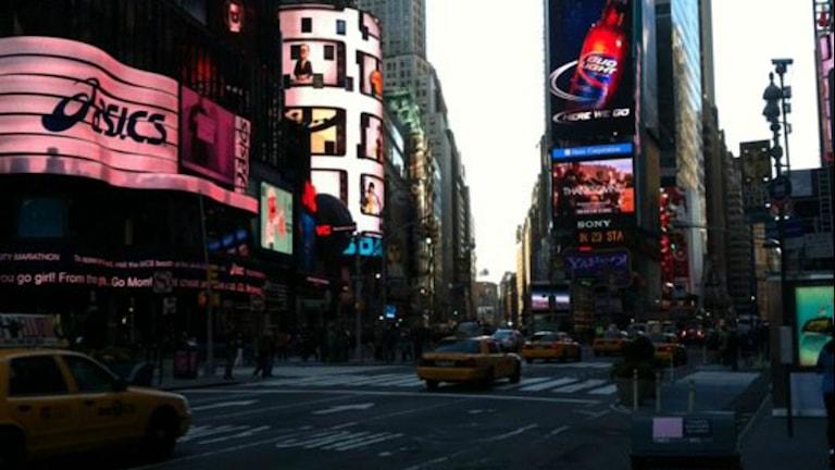 New York gatubild från Time Square.