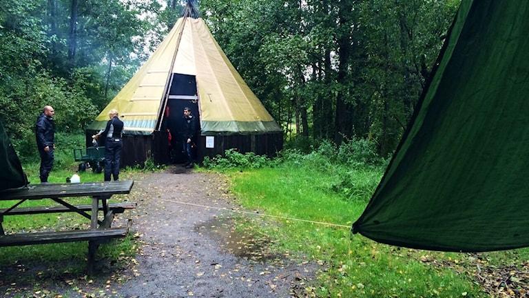 En utbildningsdag för fritidspedagoger från Baronbackarna och Varberga hölls av Naturskolan vid Oset idag.